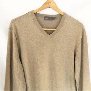 Men's Vince Cotton cashmere V Neck sweater sz L